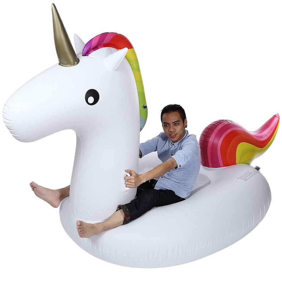 Inflatable Air Garden Furniture Beach Sofa Giant Unicorn Floating Rideable Swimming Pool Float Summer Water Fun Air Raft