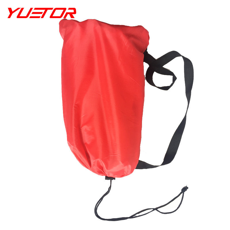 YUETOR double pocket fast inflatable lazy bag air sofa nylone ultralight lay bag sacco gonfiabile for camping beach bed laybag