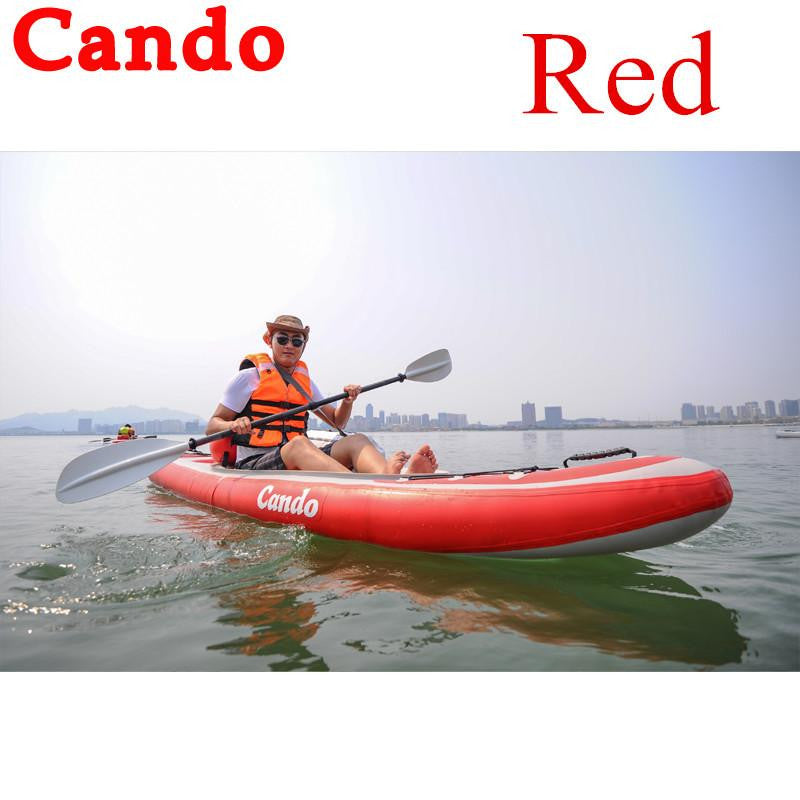 Cando 1 Person Inflatable Sup Board Surfboard Surfing Paddle Board With Oars,Inflation Pump, Backpack,Fin, Air Cushion