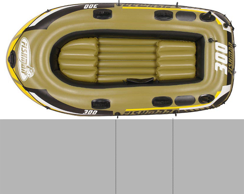 3 person FISHMAN 252*125*40cm inflatable boat fishing boat PVC kayak, rowing boat, paddle oar pump air cushion bag rubber boat
