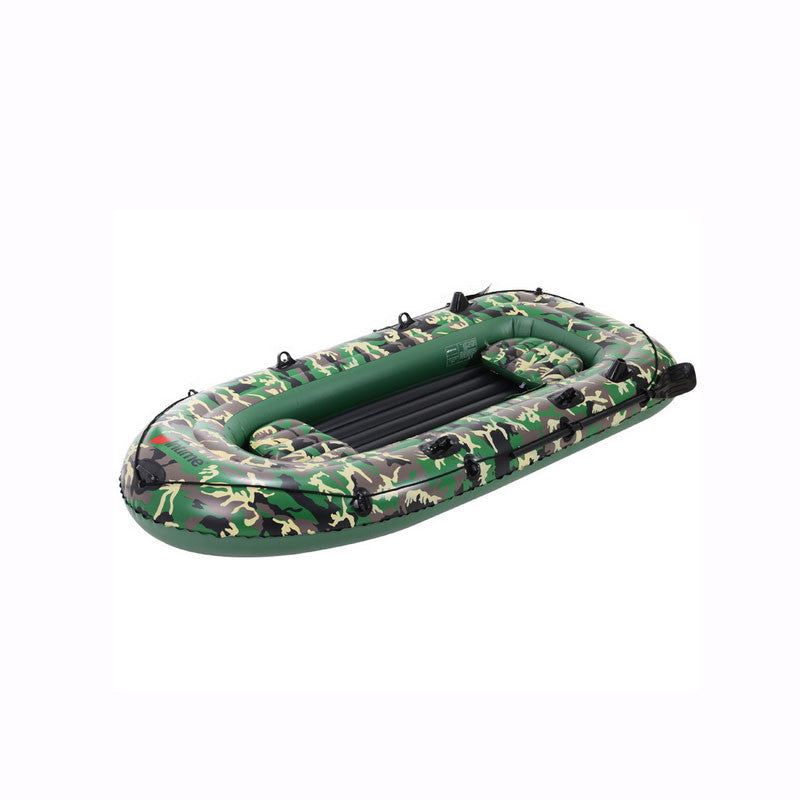 Camouflage green PVC Rubber dinghy inflatable boat thickened network folder kayak four fishing boats cushion for boats