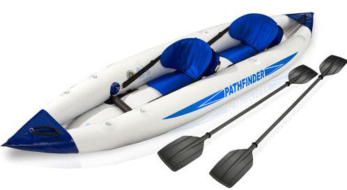 2 person pathfinder canoe inflatable boat sport kayak  400*90cm, include 2 seat+foot pump+2 paddle+carry bag