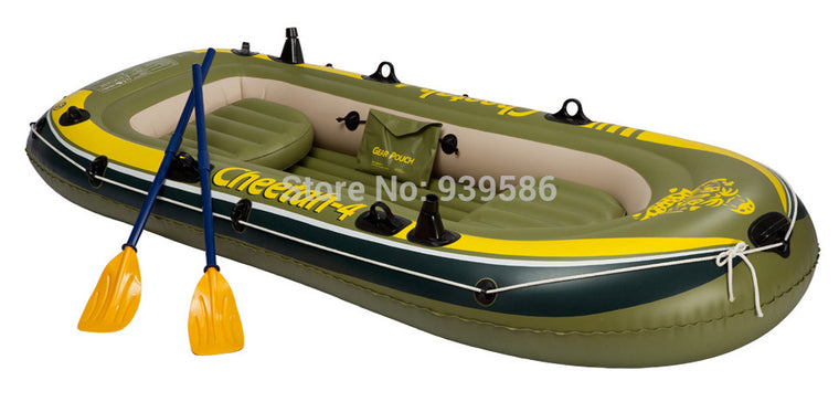 CHEETAH -4 inflatable boat summer fishing 4 persons rowboat Drifting boat dinghy kayak 0.6 mm thick size 270* 132 *42CM