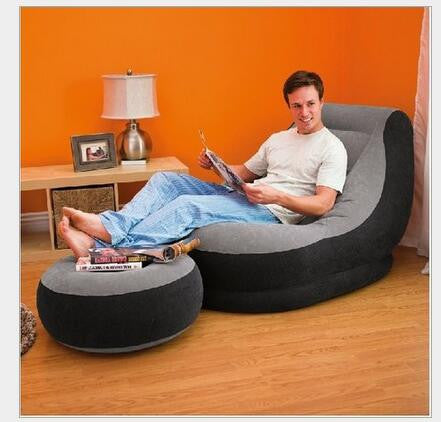 Inflatable beanbag sofa leisure lunch siesta recliner single send pedal