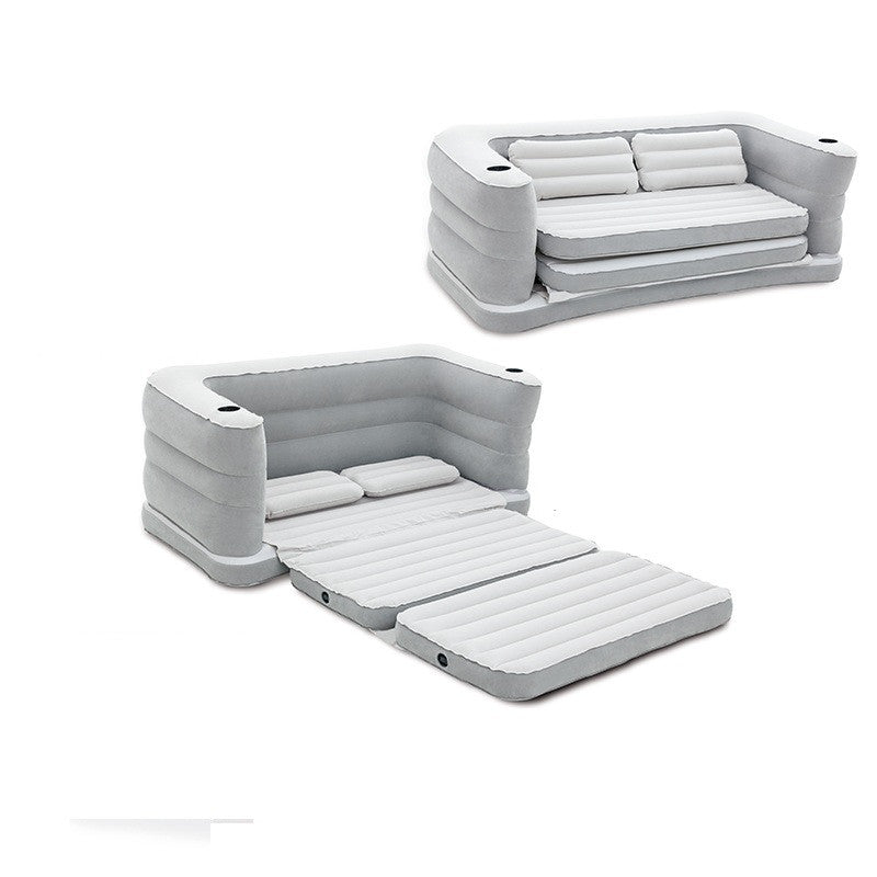 Flocking inflatable leather double Home Furnishing outdoor portable sofa bed FREE SHIPPING