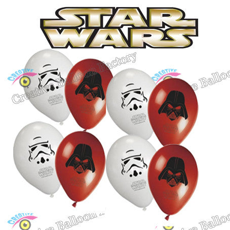 New Styke 8pcs/lot Star Wars  Latex Balloons Globos Kids Toys Birthday Party Decoration Balloons Inflatable Toys