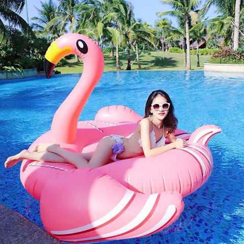 1.9M Inflatable Flamingo Float  Swan Pool Floats Donut Float Christmas G Swimming Ring Adult Child Fun Water Toy Kickboard