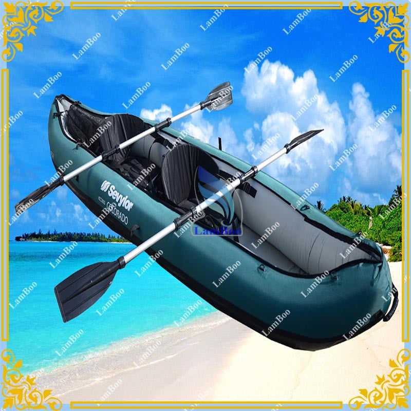 2016  2 persons Inflatable Kayak,Inflatable Fishing Boat Include accessory, PVC Vinyl Inflatable Canoe