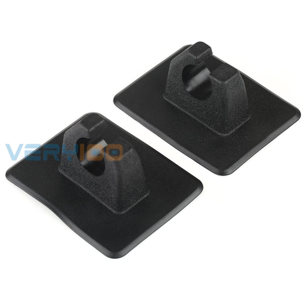 VERY100 2pcs Oar Mount Paddle Hook Pole Rod Clips Kits for Inflatable Boat Dinghy Kayak Canoe Black New