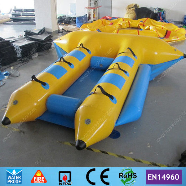 Free Shipping 4 person Inflatable flyfish boat inflatable Rowing Boat for Sale(CE pump+storage bag)