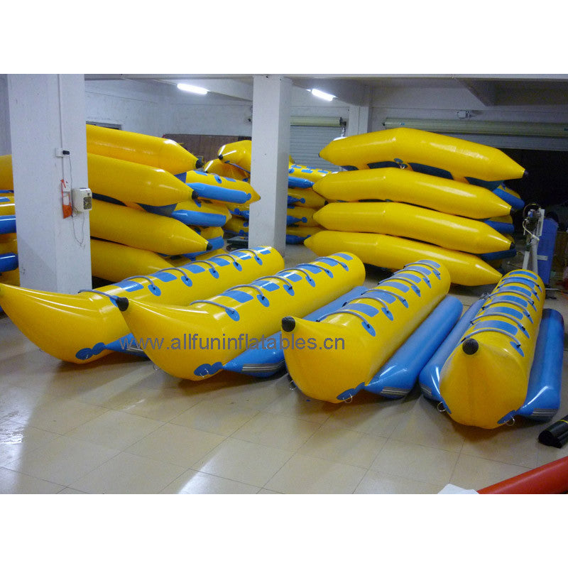 Free shipping 6 seat inflatable banana boat 5.8m x 1.16m, inflatable banana shape boat  single row(no pump)