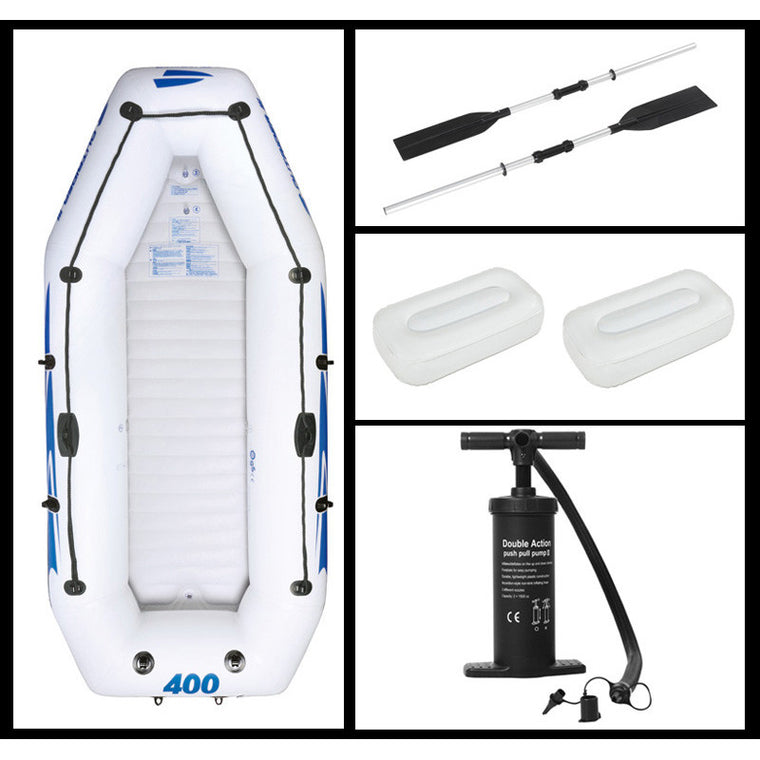 3+1 preson inflatable boat fishing boat deflated size 305*157cm, aluminium oar, hand pump, carry bag, 2 cushions, repair kit