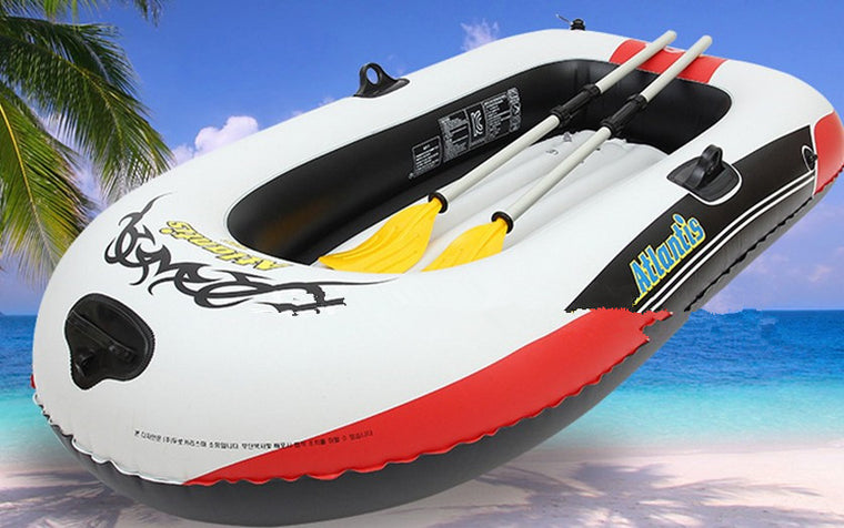 4 persons 270x130cm inflatable fishing boat with 2 paddles and 1 foot pump load weight 500 kgs
