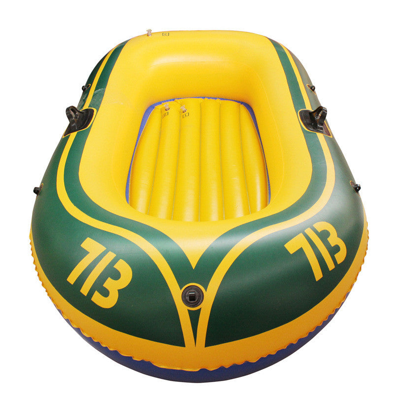 192*115cm Inflatable Boat 2 Person Rubber Boat for River Stream Lake Fishing Inflatable Boat +Paddles Pump Patching Kit and Rope