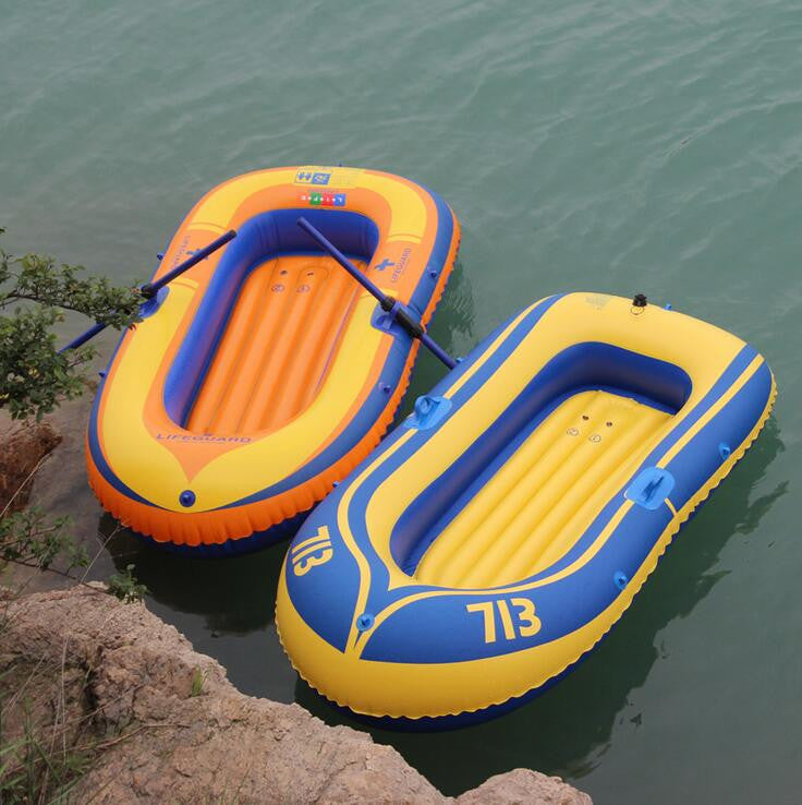 Inflatable boat double  Portable pvc inflatable boat rubber boat kayak fishing hovercraft double high-quality c load 150kg