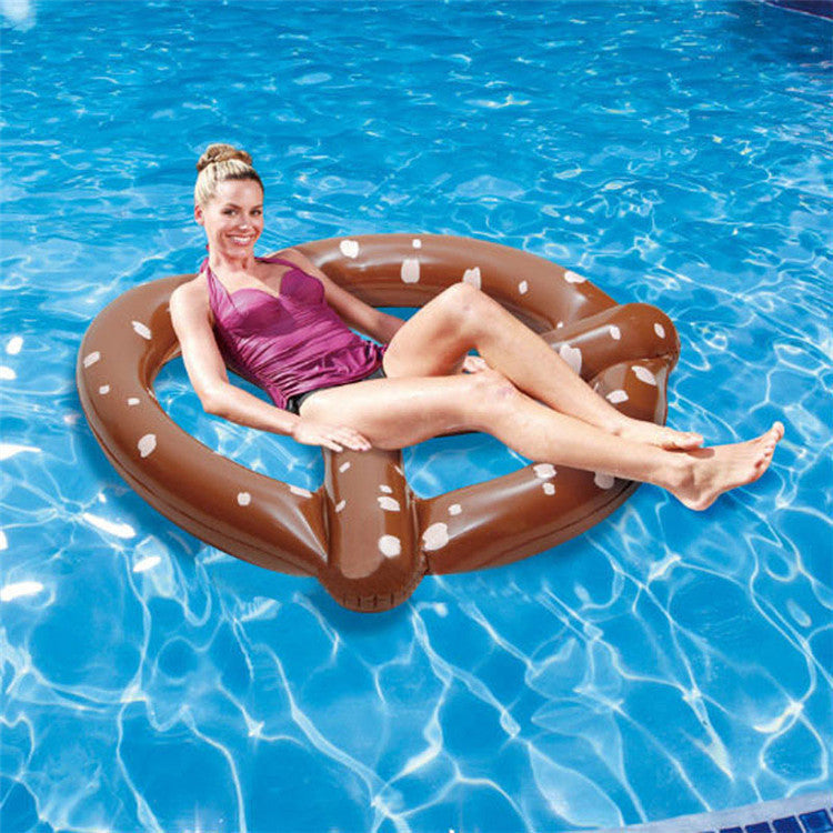1.5X1.4M Inflatable Pretzel Pool Float inflatable water float Swimming Ring Air Rafts Air Mattresses Swimming Pool toys Dropship