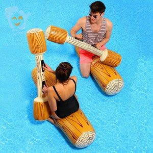 Inflatable Log Joust Set Raft Inflatable Water Toys Pool Fun Beach Swimming Float Mattress Boia De Piscinas