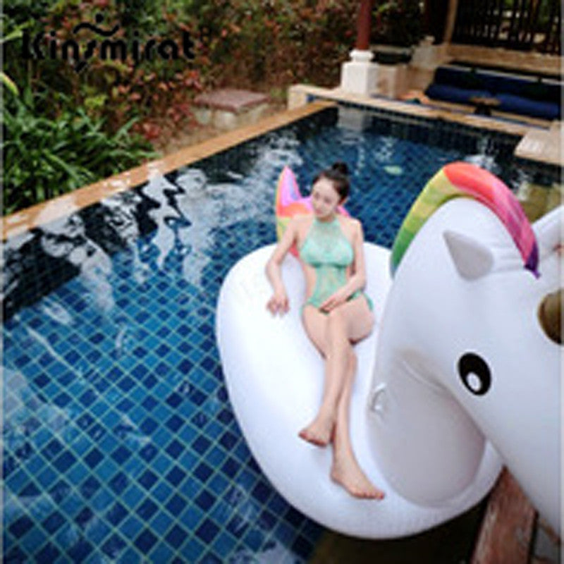Air Inflatable Pool Toy 2.75*1.40*1.20m Inflatable Unicorn Pegasus Water Floats Raft Air Mattress