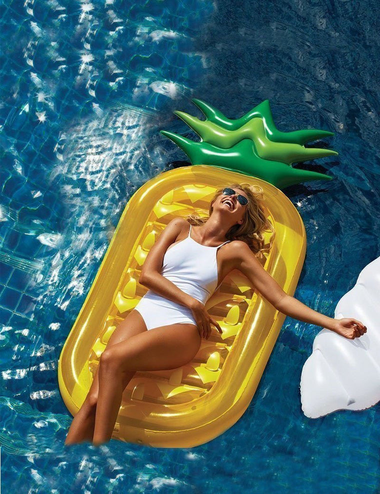 toys for kids children Summer 180cm Pool Toy Funny Pool Floats Inflatable Pineapple Pool Floats Air Mattress Water Rafts Bed