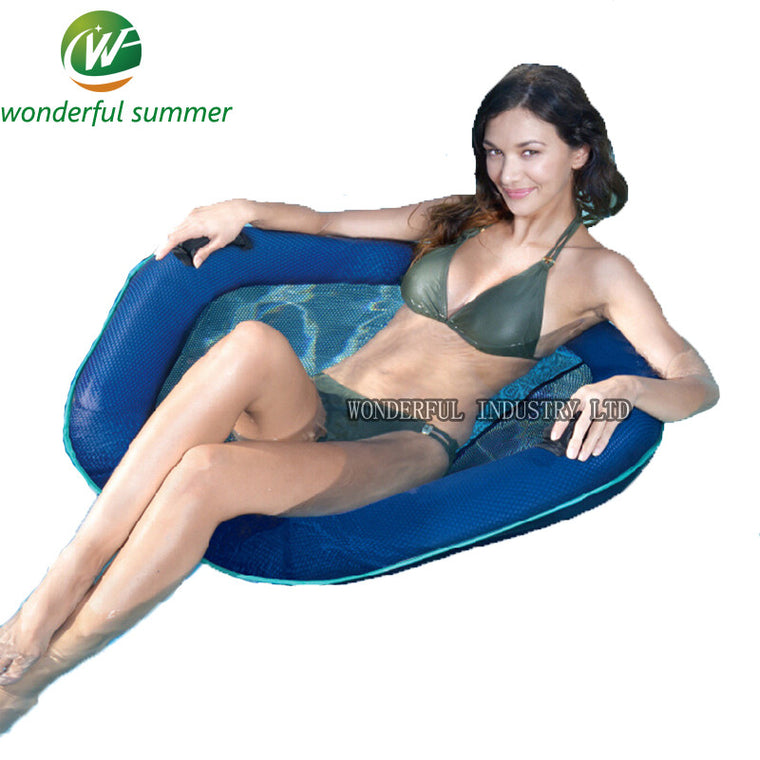 Polyester Mesh Inflatable Seat Float Swimming Ring Pool Floating Raft Chair Bed Water Supply For Adults Women Air Mattress Borad