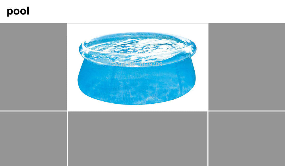 see through 240cm transparent blue above ground pools, family pool inflatable swimming pool for adult easy set aqua piscina