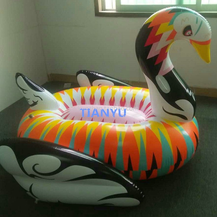 Summer Giant Swan For Adult 75 inch 1.9m Inflatable Ride On Pool Toy Float Swan Inflatable Swim Ring