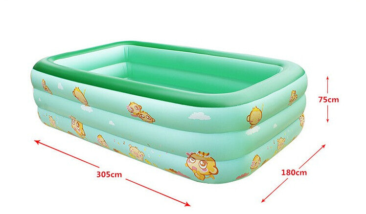 Large adult swimming pool large child inflatable pool inflatable ocean ball fishing pool