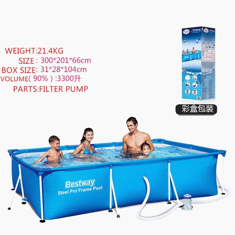 Feel So Good Size:3M*2M*0.7M Super Large Swimming Pool For Whole Family Ground  Frame Pool Floats For Adults No Inflatable Pool