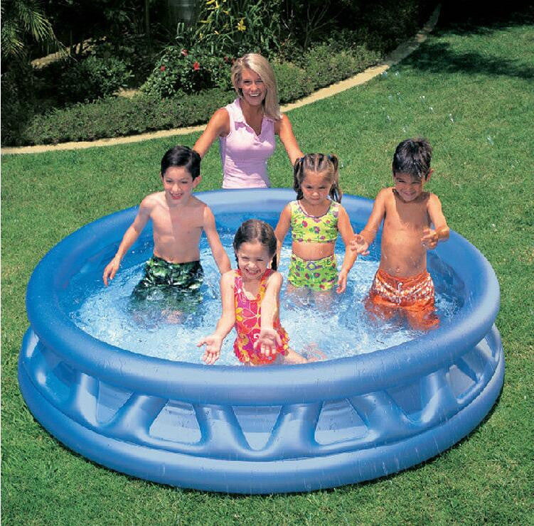INTEX 58431 children's inflatable baby pool ocean ball pool thickened large family paddling pool adult bath size 188 * 46CM