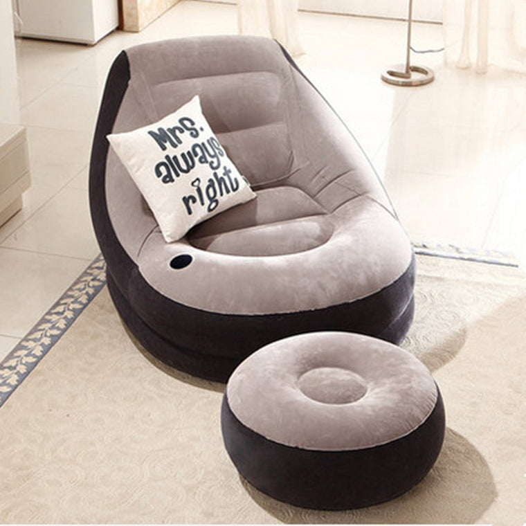 Bean Bag Chair Living Room Folding Furniture Inflatable Sofa Bed Bedroom Furniture With Footstool Free Shipping