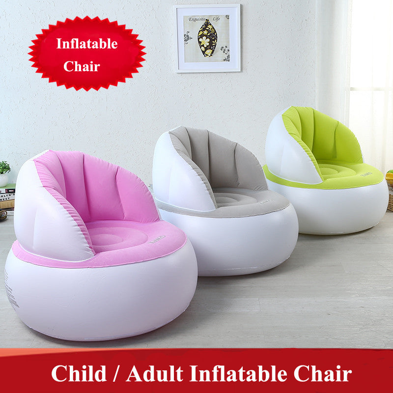 Cute Folding Flocking Inflatable Sofa Lazy Sofa Chair  Bedroom Furniture Bean Bag Armchair Kid/Adult Gaming Computer Stool