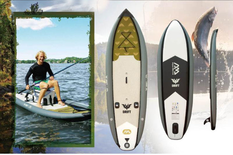 AQUA MARINA 330*97*15cm DRFIT inflatable sup board stand up paddle board, fishing SUP board, surfing board, with incubator