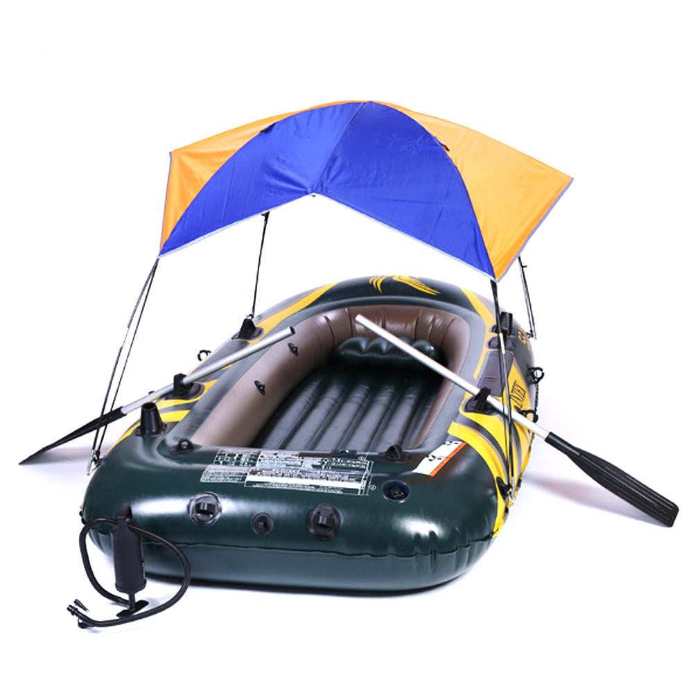 Wholesale-For 2-4 People Fold Tent Sun Shelter Tent For Inflatable Boat Fishing Tent Multifunctional PVC Rubber Sun Canopy Sunshade Tent