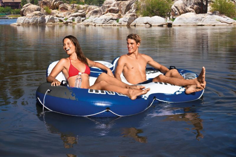 Intex River Run II 2-Person Water Tube Float w/ Cooler and Connectors | 58837EP