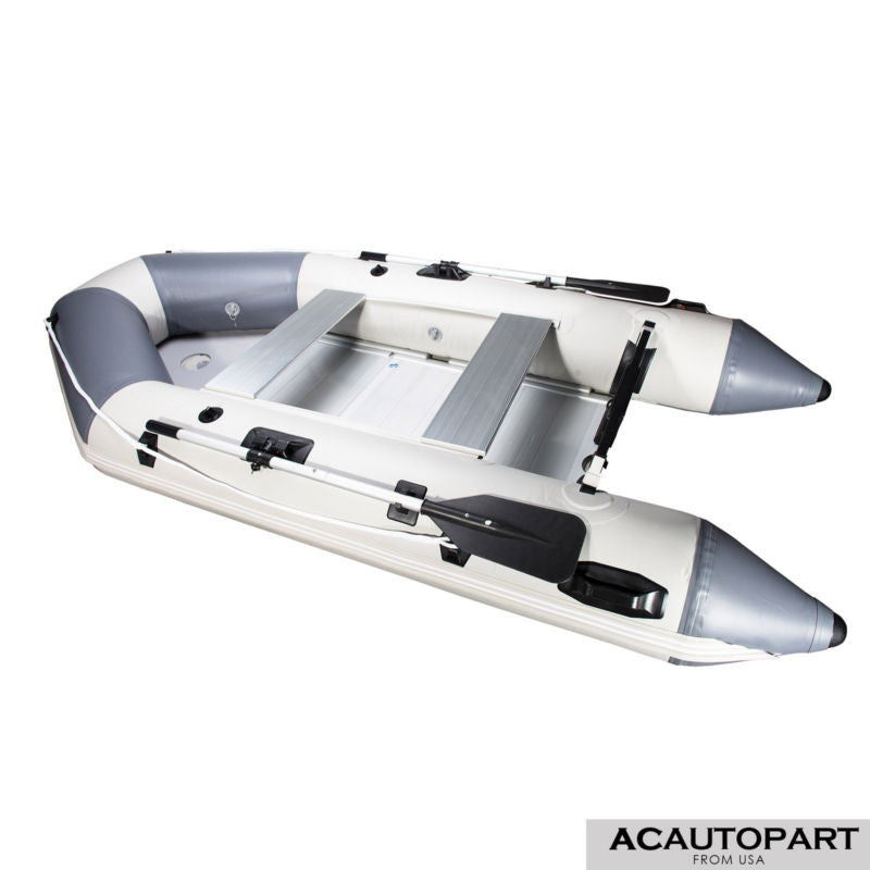 PVC 10.8Ft Inflatable Fishing Boat with Aluminum Floor for Recreational Use