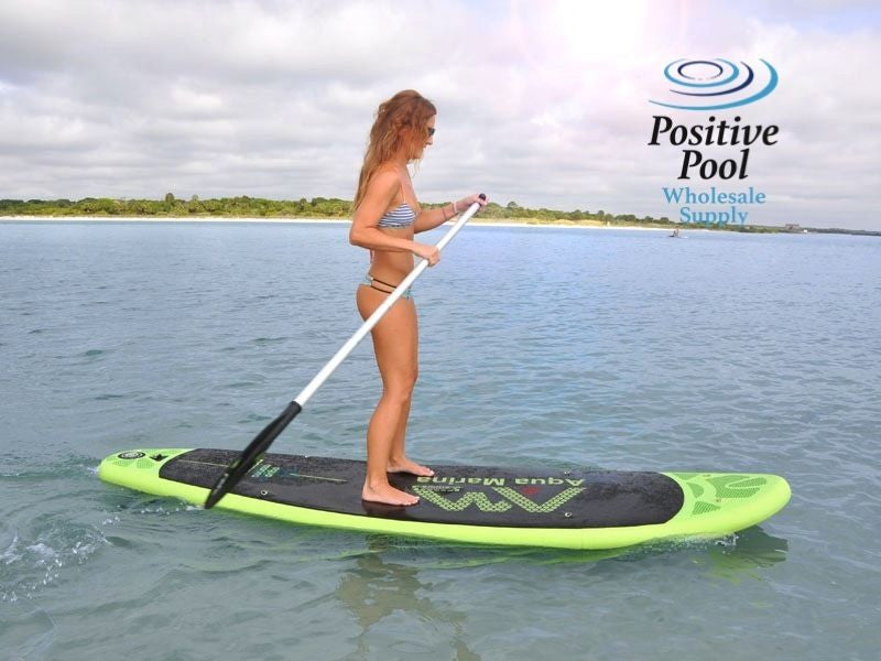 "AQUA MARINA BREEZE INFLATABLE STAND-UP PADDLE BOARD 9' 9""  W/ PUMP & PADDLE"