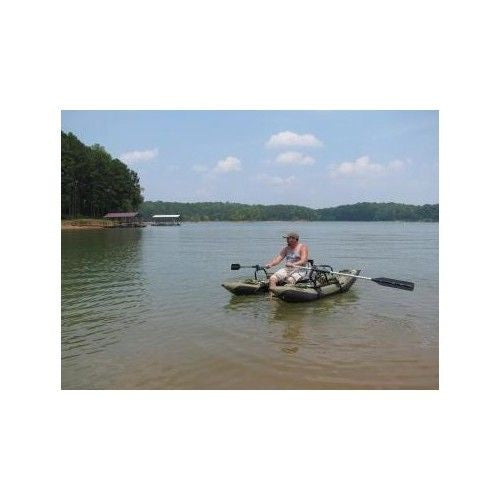 Colorado Pontoon Boat Inflatable Fishing Kayak Paddle Angler Double Motor Mount