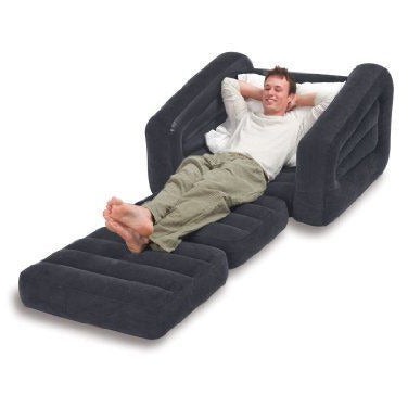 Inflatable Pull Out Sofa Chair Bed Sleeper Dorm Camping RV Guest Trip Bedrooms