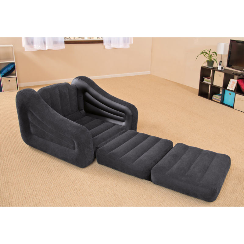 Intex Inflatable Pull-Out Chair and Twin Bed Air Mattress Sleeper | 68565EP