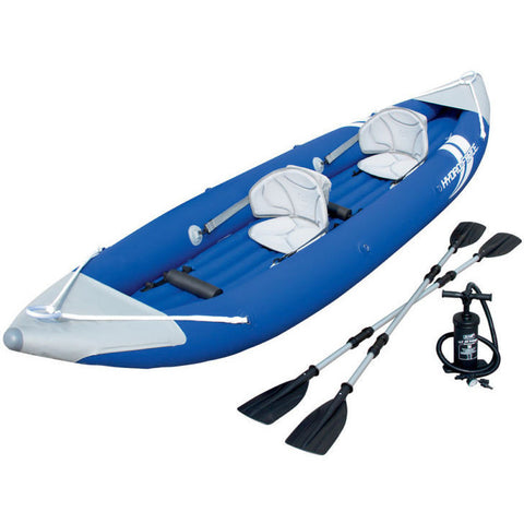 Bolt X2 Two Person Inflatable Kayak Boat Raft with Pump and 2 Aluminum Oars
