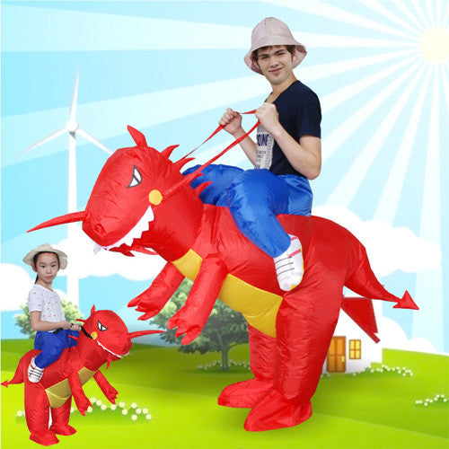 Christmas Costume for Women Inflatable Dinosaur Costume - Fan Operated Adult Kids Size Halloween Cosplay Animal Dino Rider T-Rex