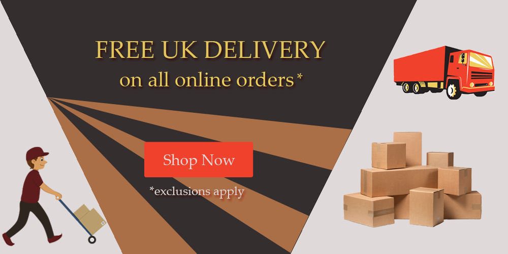 Free delivery on all online orders. Fine Furniture.