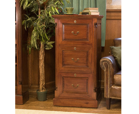 La Roque Solid Mahogany 3 Drawer Filing Cabinet