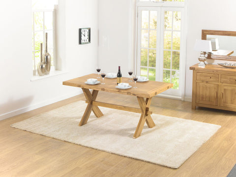 Avignon 165cm All Sides Extending Solid Oak Dining Table