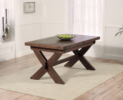 Avignon Dark 160cm Solid Oak Dining Table