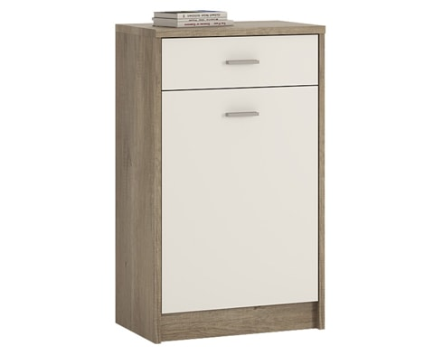 4 You Wooden 1 Drawer 1 Door Cupboard - 3 Colours