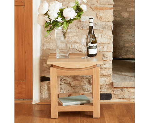 Roscoe Contemporary Solid Oak Lamp Table