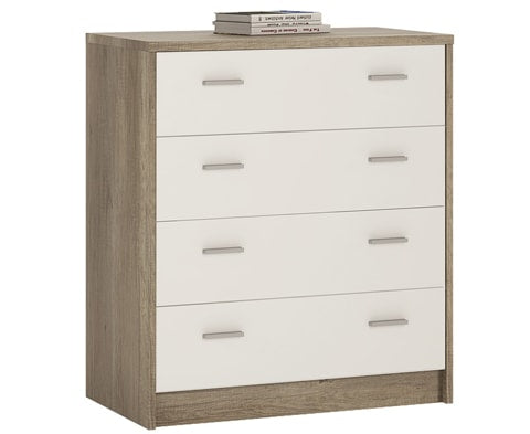 4 You Wooden 4 Drawer Chest - 3 Colours