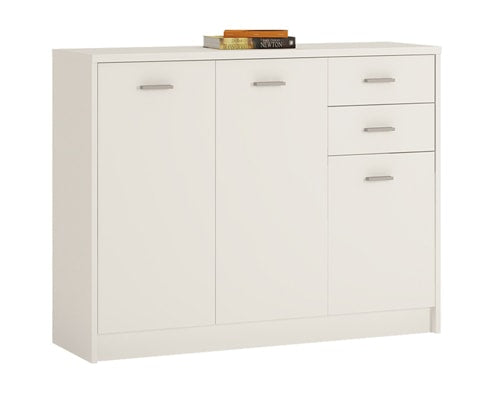 4 You Wooden Wide 3 Door 2 Drawer Wide Cupboard- 2 Colours