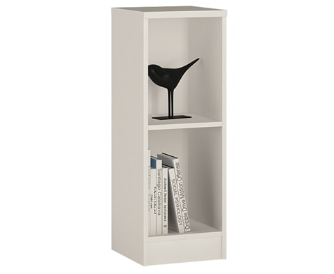 4 You Low Narrow Bookcase with 2 Shelves - 3 Colours